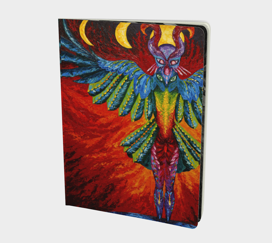 Raven Goddess Large notebook preview #1