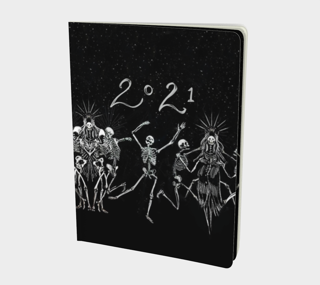 2021 Large Notebook Skeleton Dance  preview
