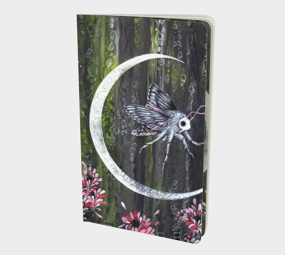 Moon Bubble Moth small notebook preview