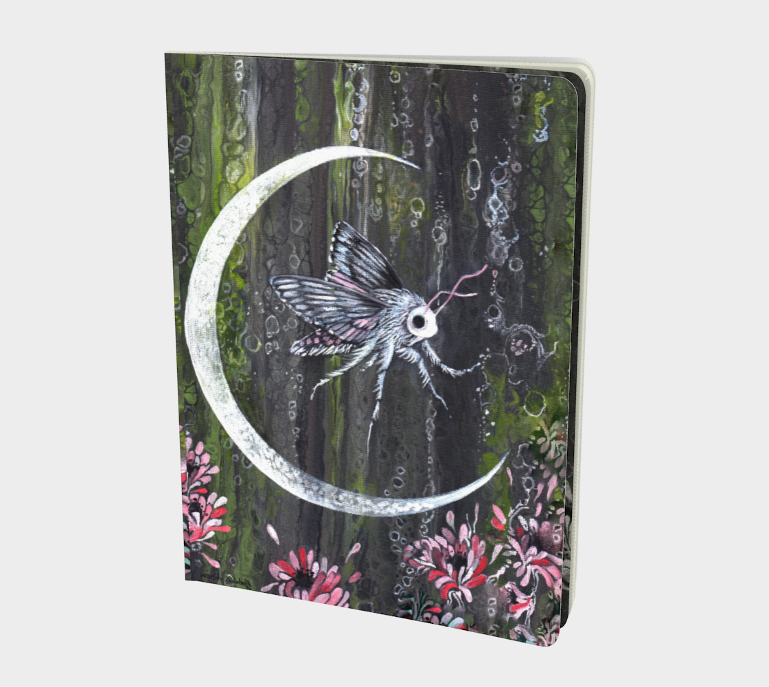 Moon Bubble Moth Large notebook preview