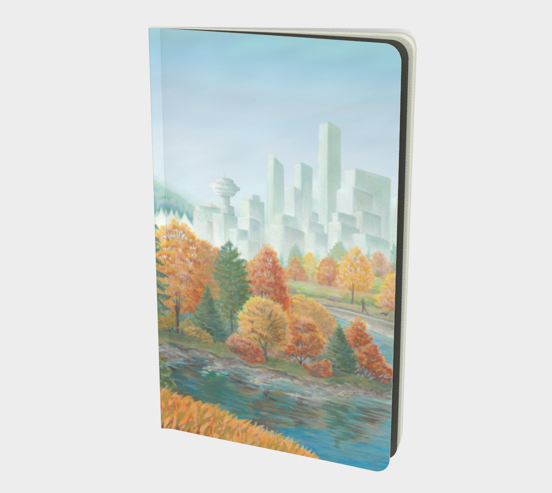 Vancouver Canada Notebook -  Landscape Painting - Two Worlds Collide preview