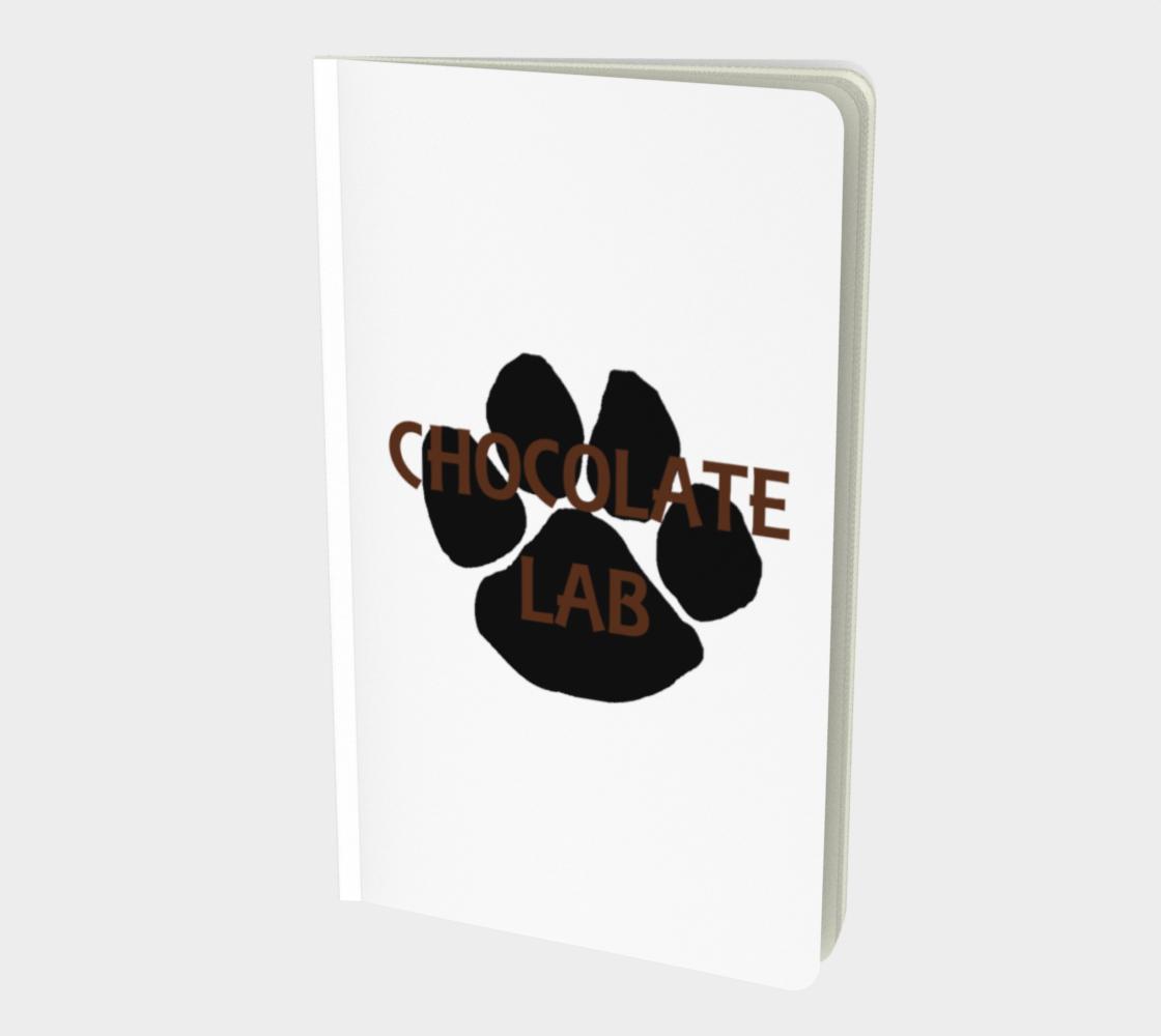 Labrador Retriever chocolate name paw notebook preview