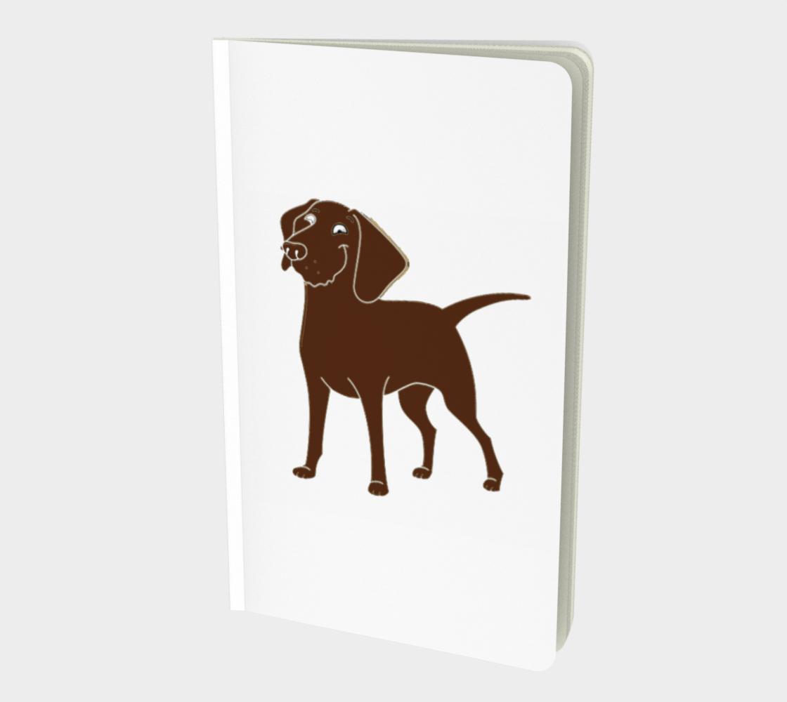Labrador Retriever chocolate cartoon notebook preview