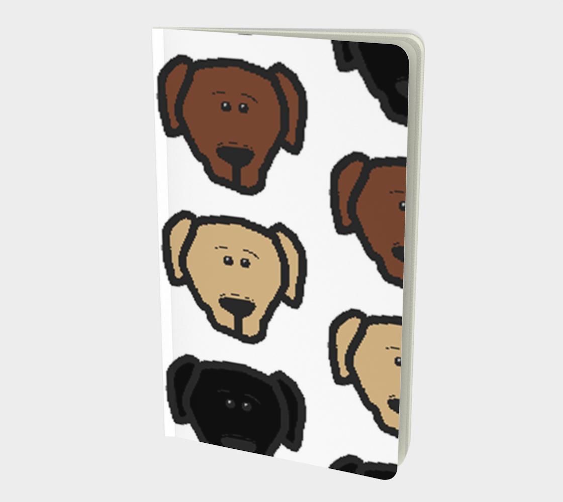 Labrador Retriever all 3 colors cartoon heads notebook preview