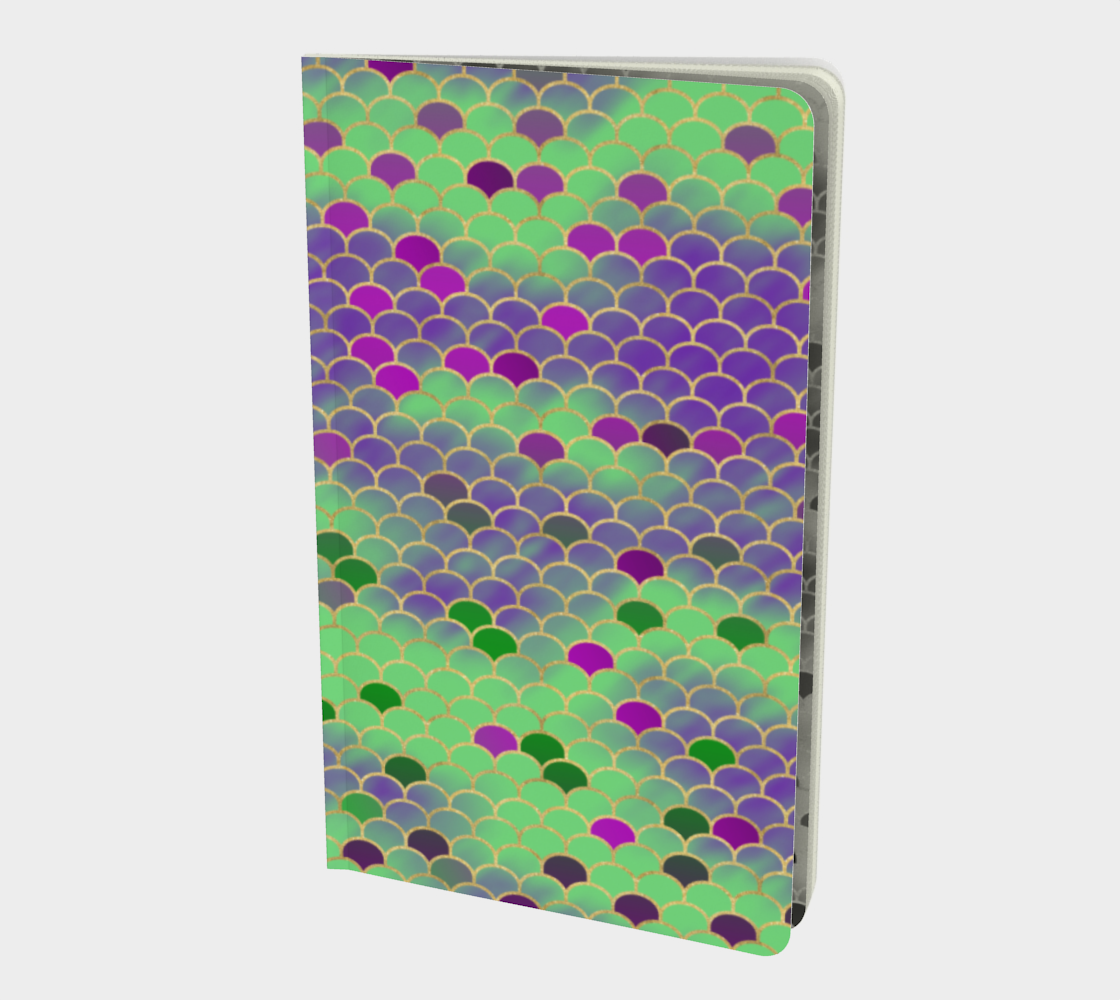 Green and Purple Mermaid Scales Notebook preview