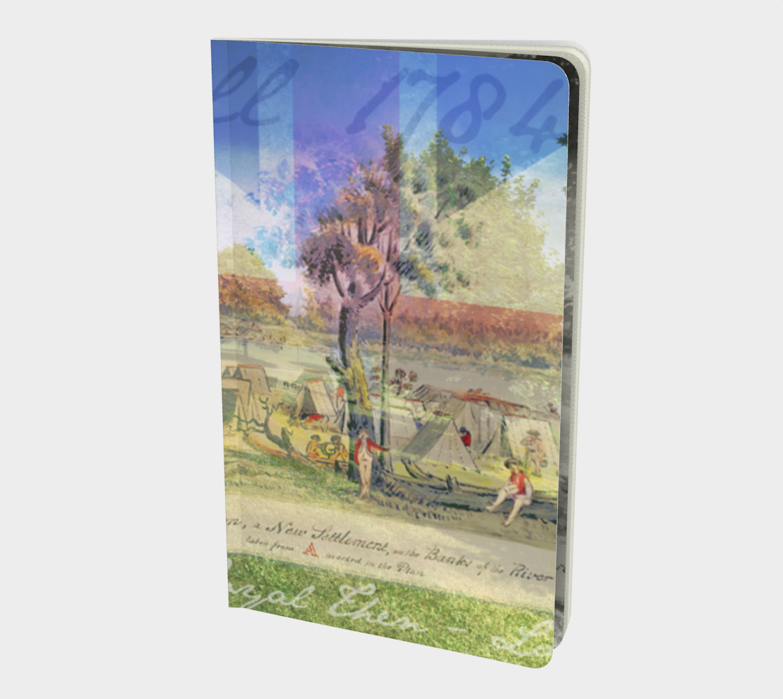 Cornwall landing encampment small notebook preview