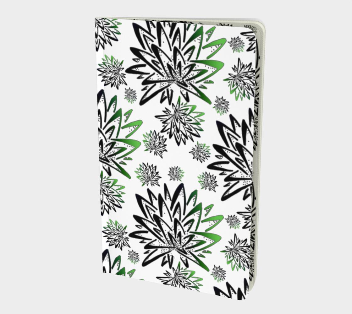 Aperçu de Abstract Green Thistles Pattern Notebook