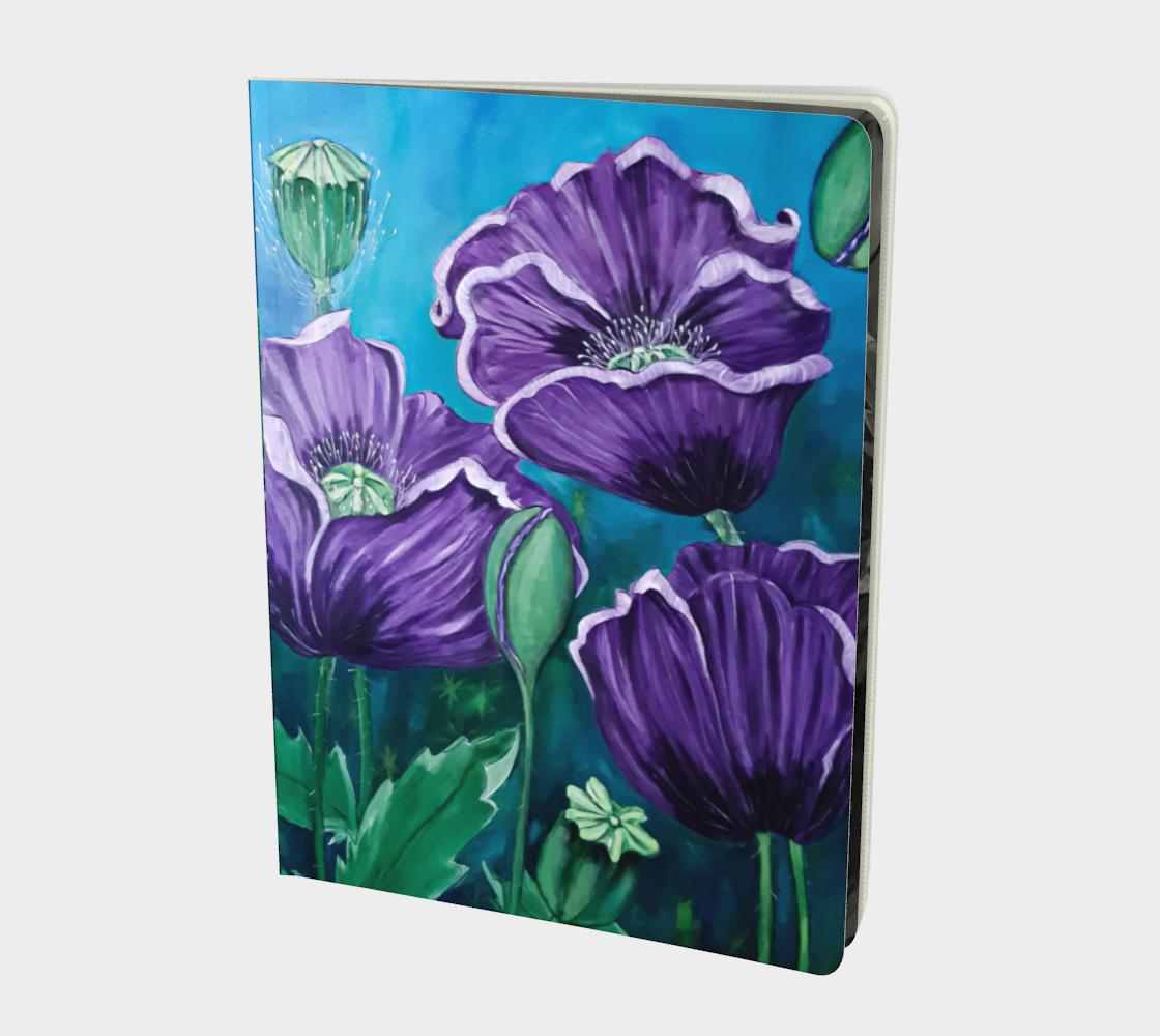 Aperçu de Purple Poppies Large Notebook