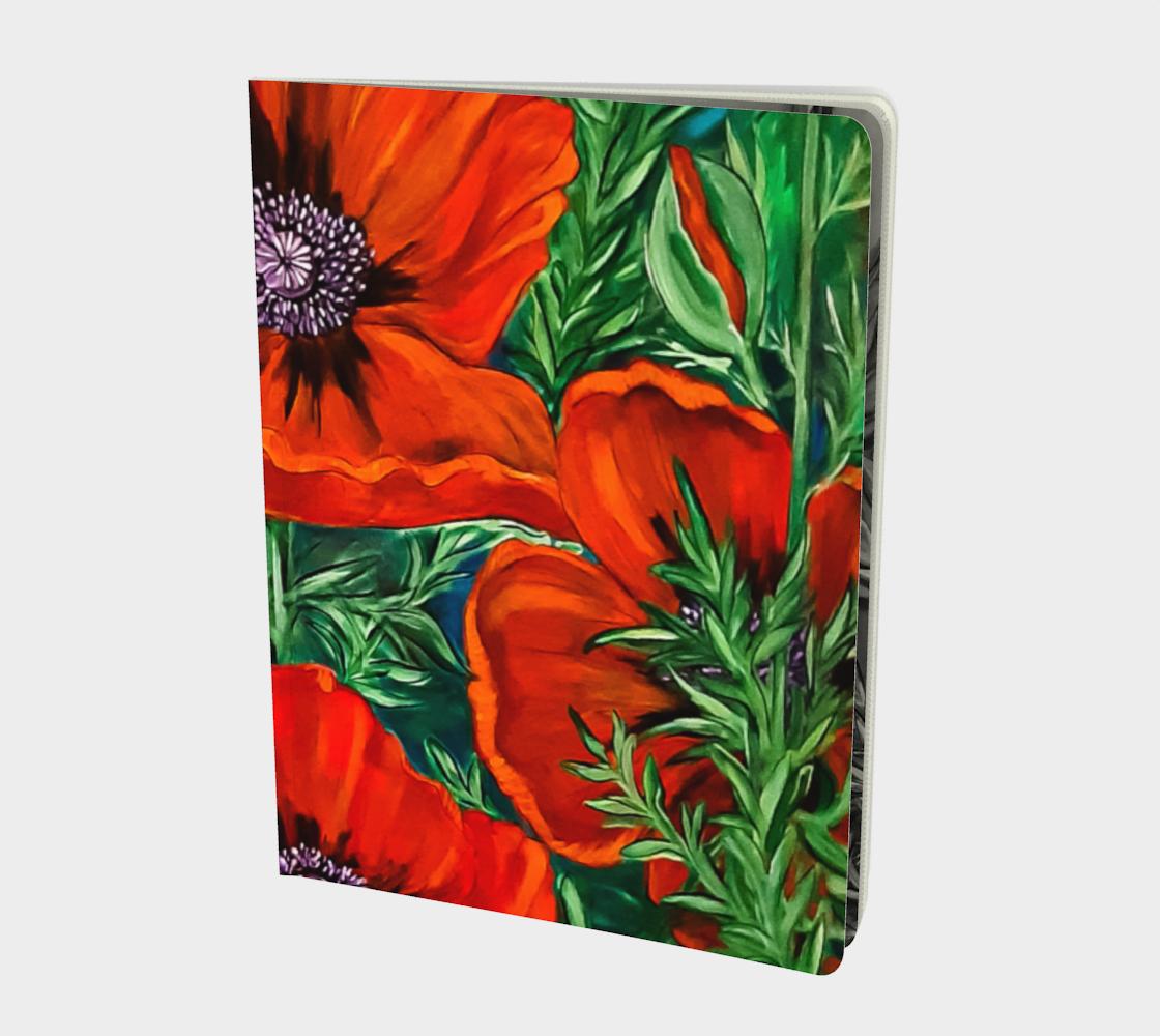 Aperçu de Big Bold Red Poppies 2 Large Notebook