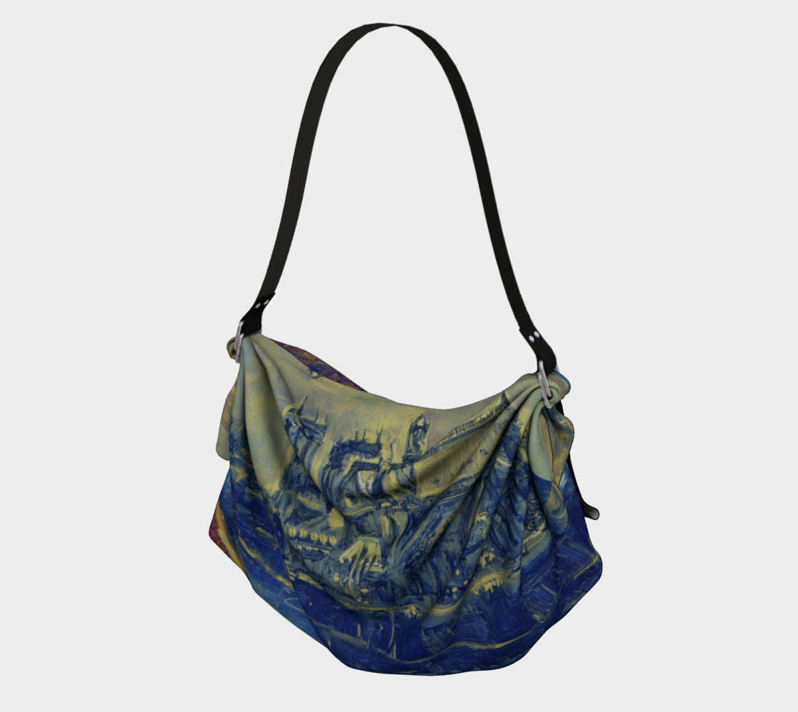 """""""Notre Dame Tribute: 4-15-19 by Lowell S.V. Devin"""" / Commemorative Origami Tote preview"""