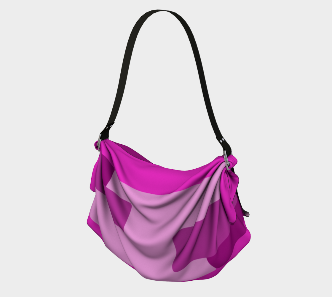 Pink Abstract Origami Tote preview