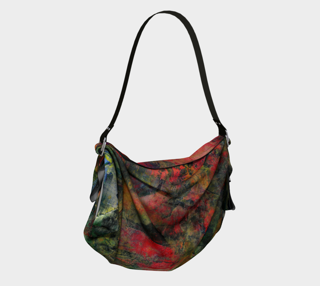 Abstract Garden Origami Tote thumbnail #3