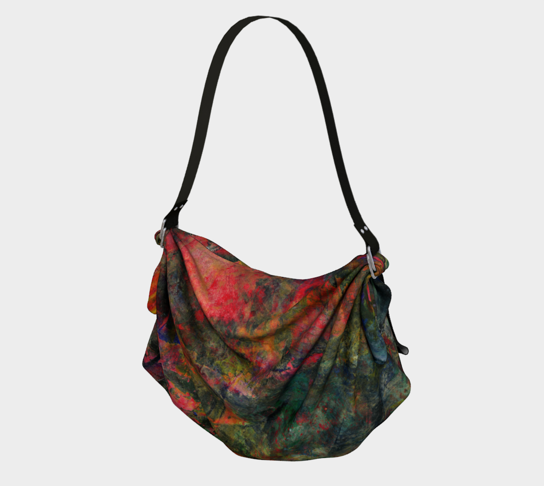 Abstract Garden Origami Tote 3D preview