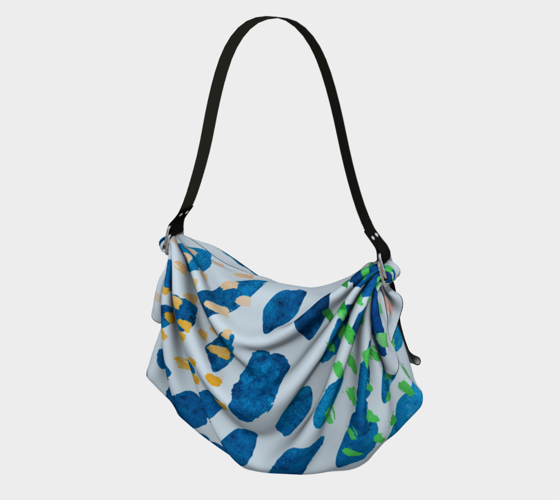 Under The Sea Watercolor Abstract Origami Tote preview
