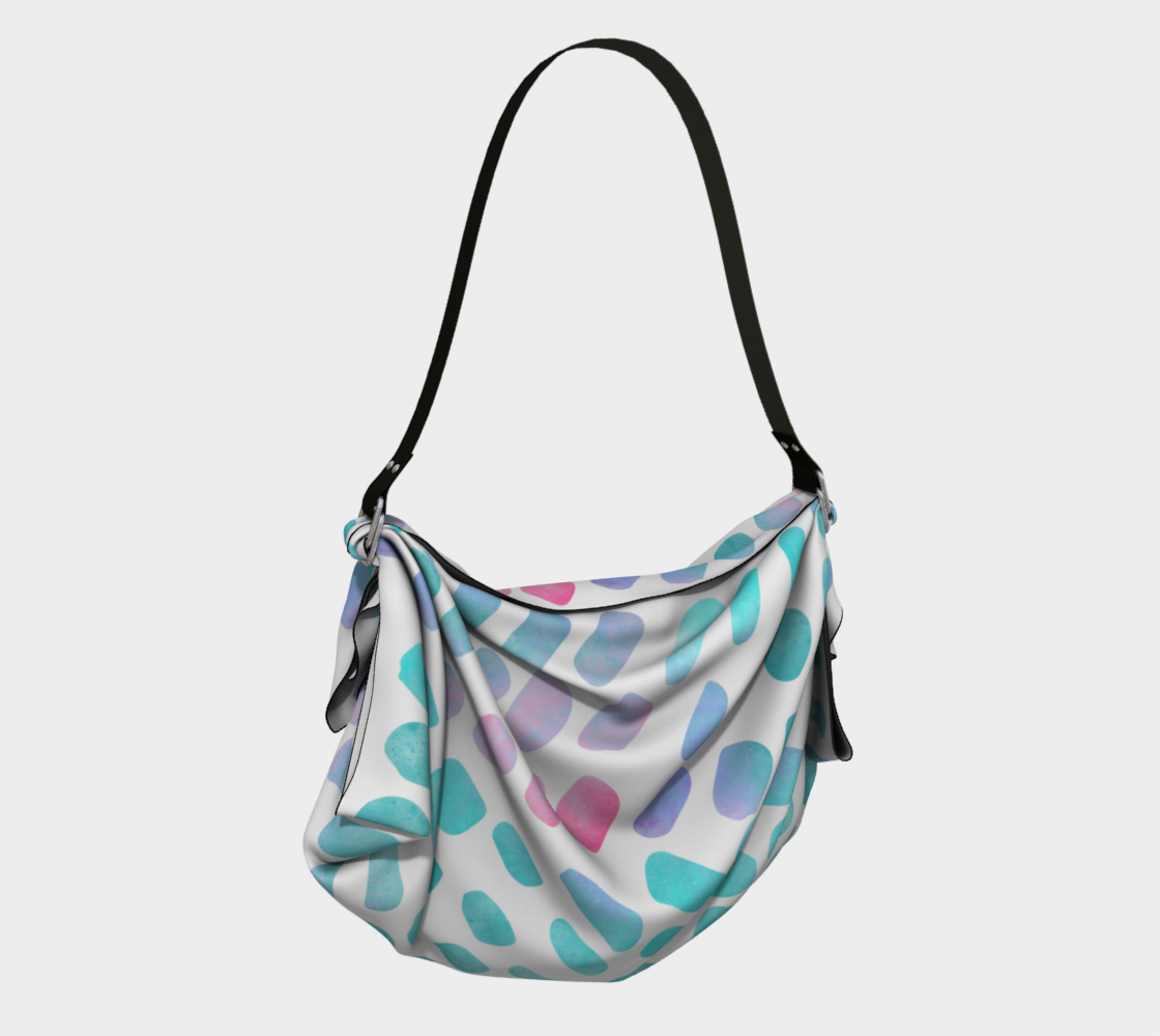 Pink and Blue Cotton Candy Origami Tote preview #2