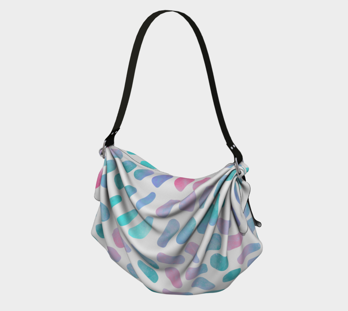 Pink and Blue Cotton Candy Origami Tote preview #1