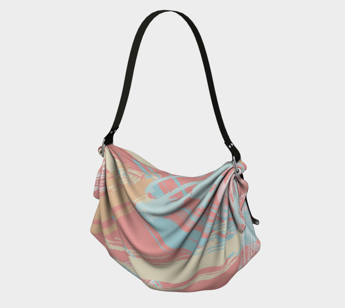 Pastel Abstract Brush Stroke Origami Tote preview
