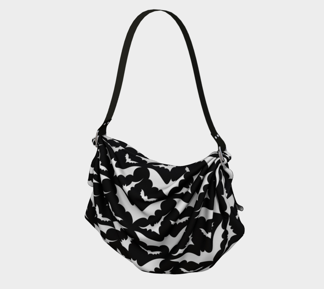 Black and White Bats Purse preview