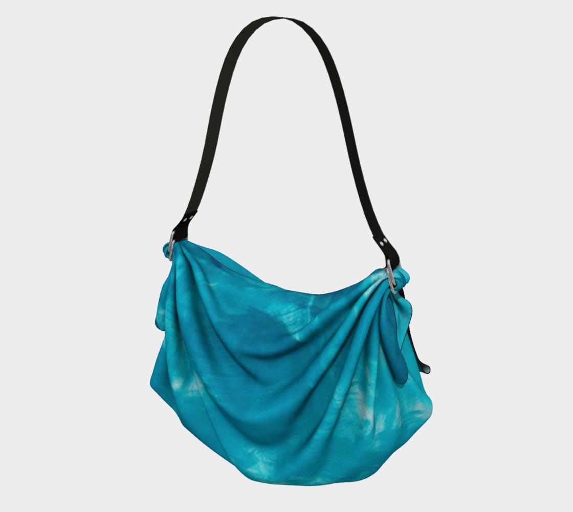 Aperçu de Turquoise Abstract Watercolor Bag