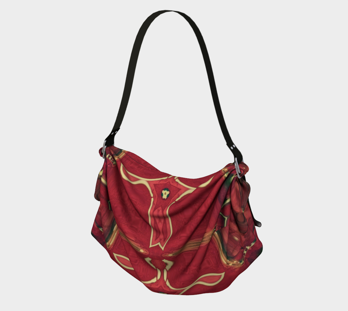 Red Ice Leather-Look Lux Tote preview