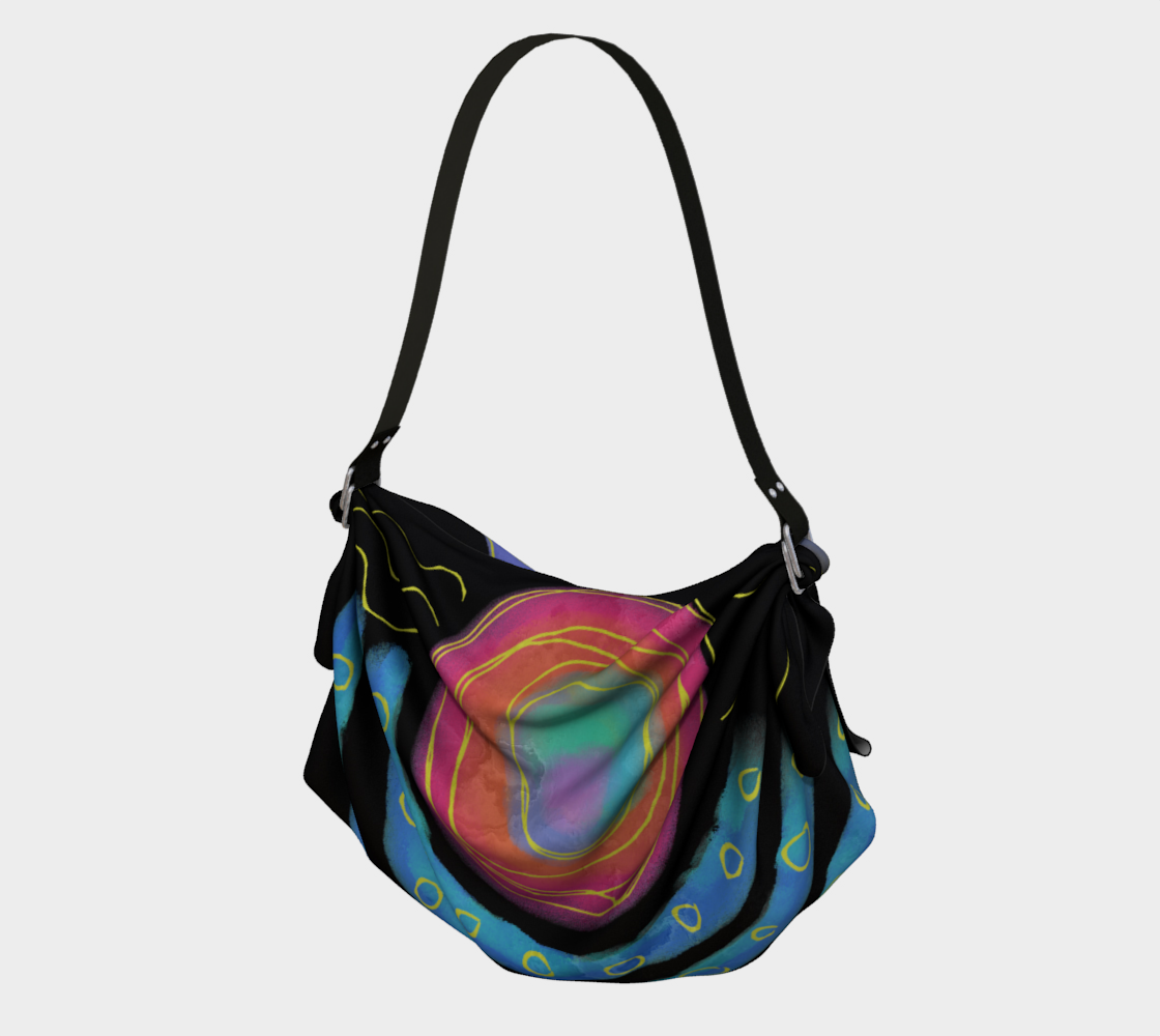 Colorful Abstract Sun Digital Print Tote Bag preview