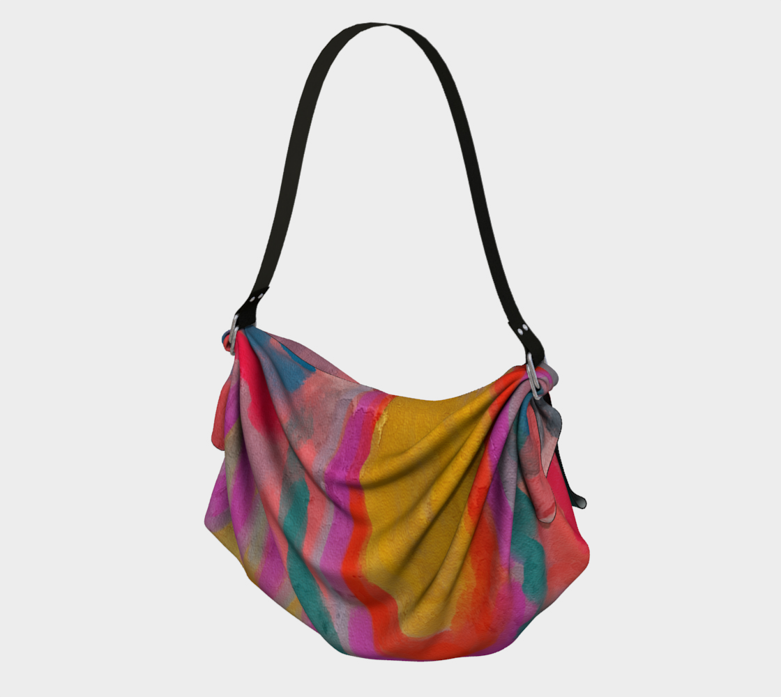 Spring Colorful Abstract Digital Painting Tote Bag preview