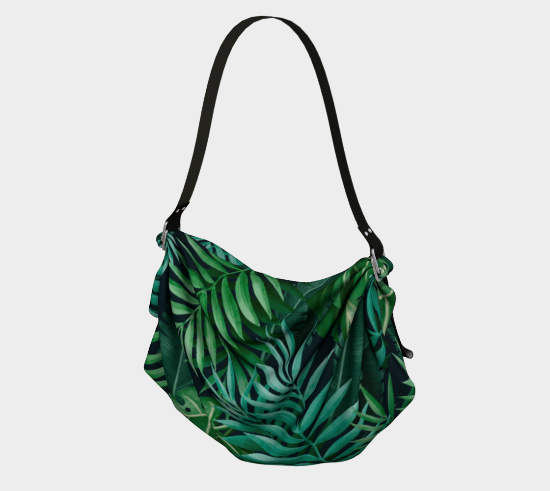 Exotic Jungle Green Leaves preview