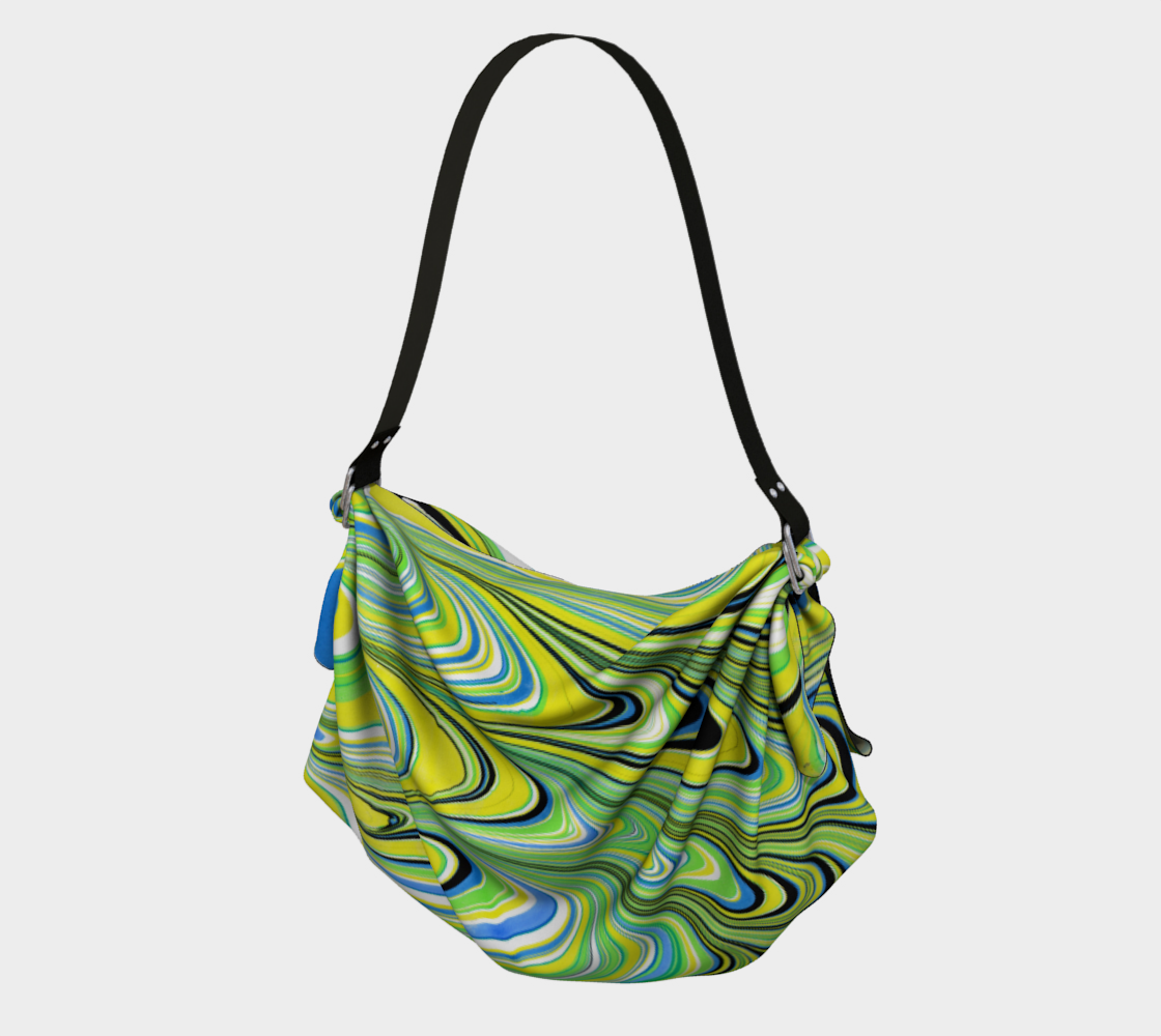 Sac fourre- tout tissus origami estival Marbling art preview