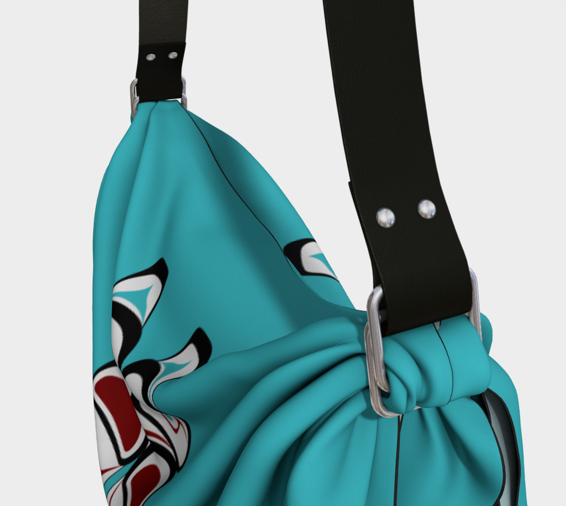 Formline Owl Pacific Northwest Native American Design Origami Tote Bag preview #3