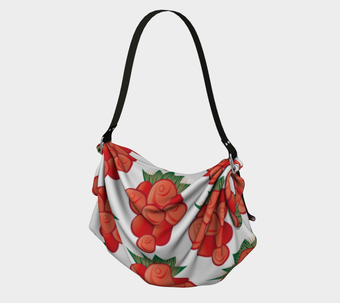 Salmonberry White Origami Tote preview