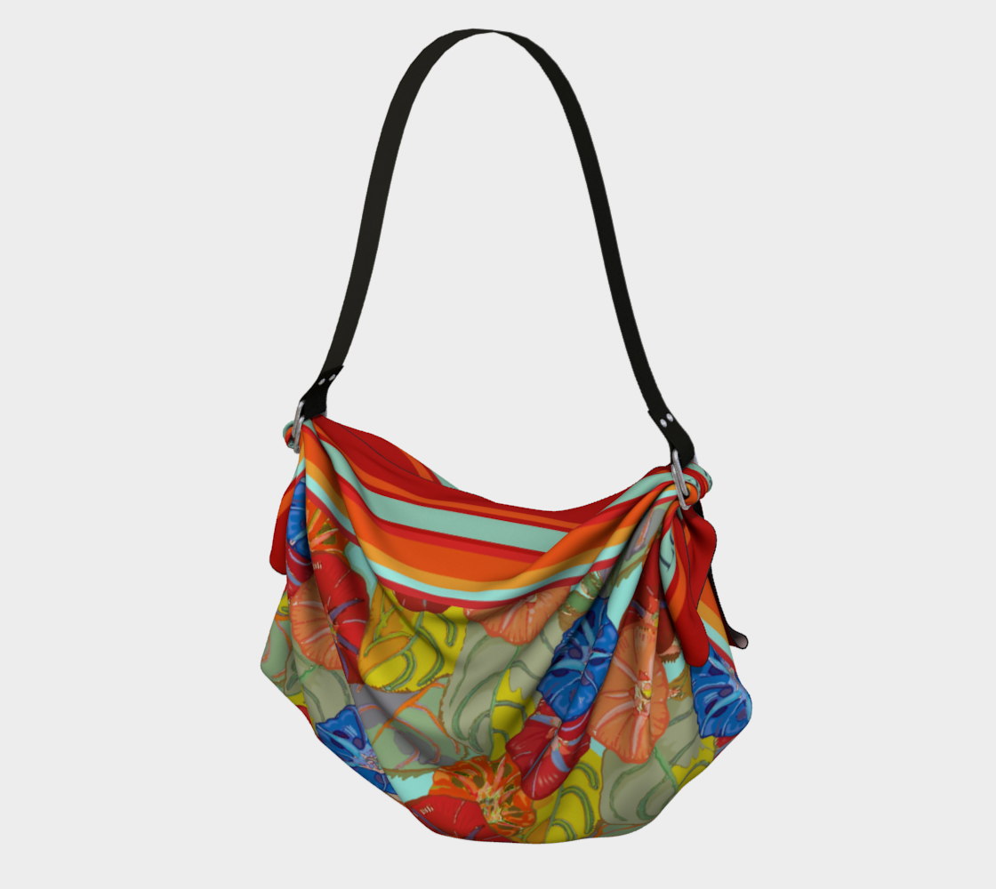 Hot Floral Origami Tote preview