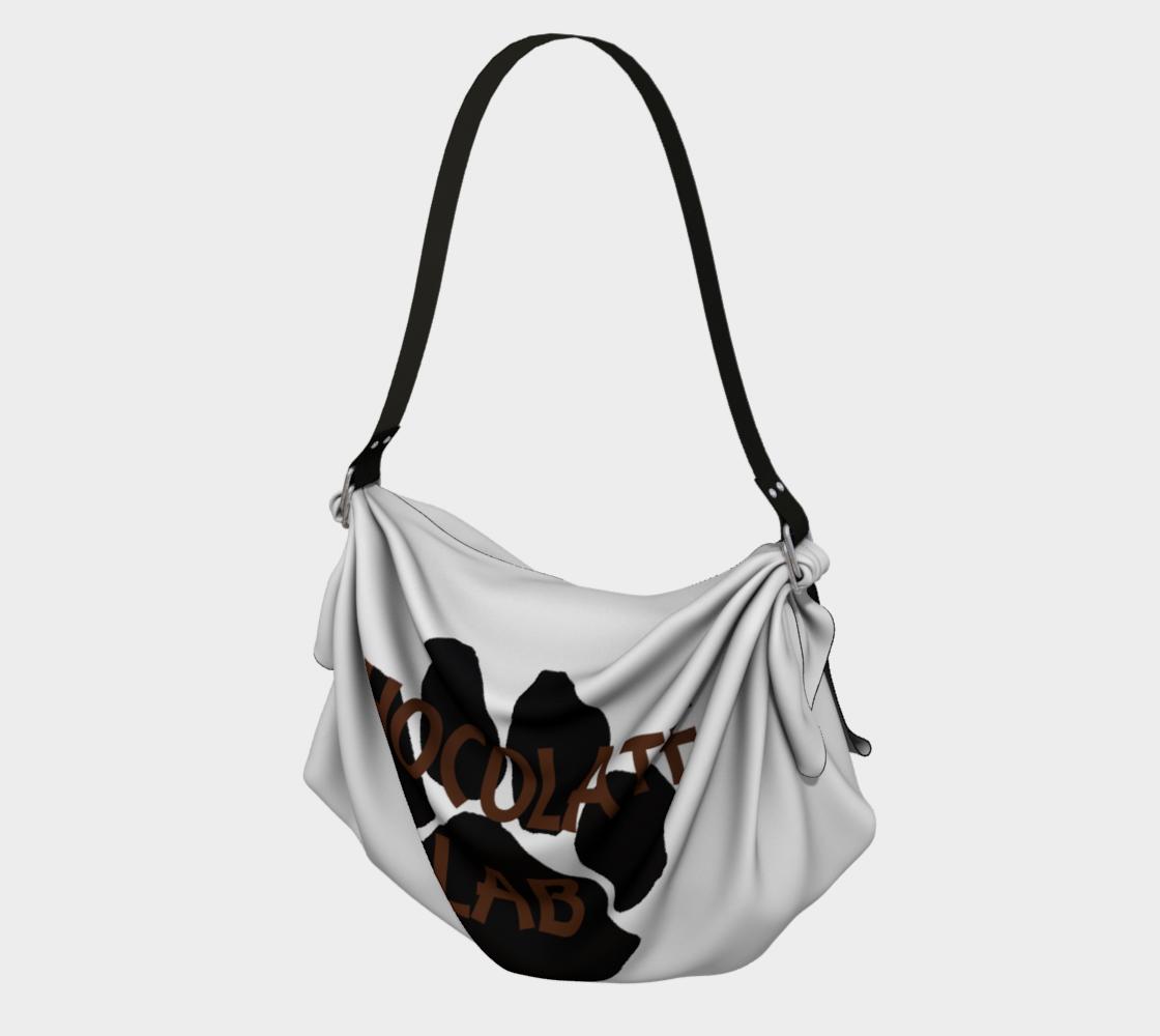 Labrador Retriever chocolate name paw origami bag preview