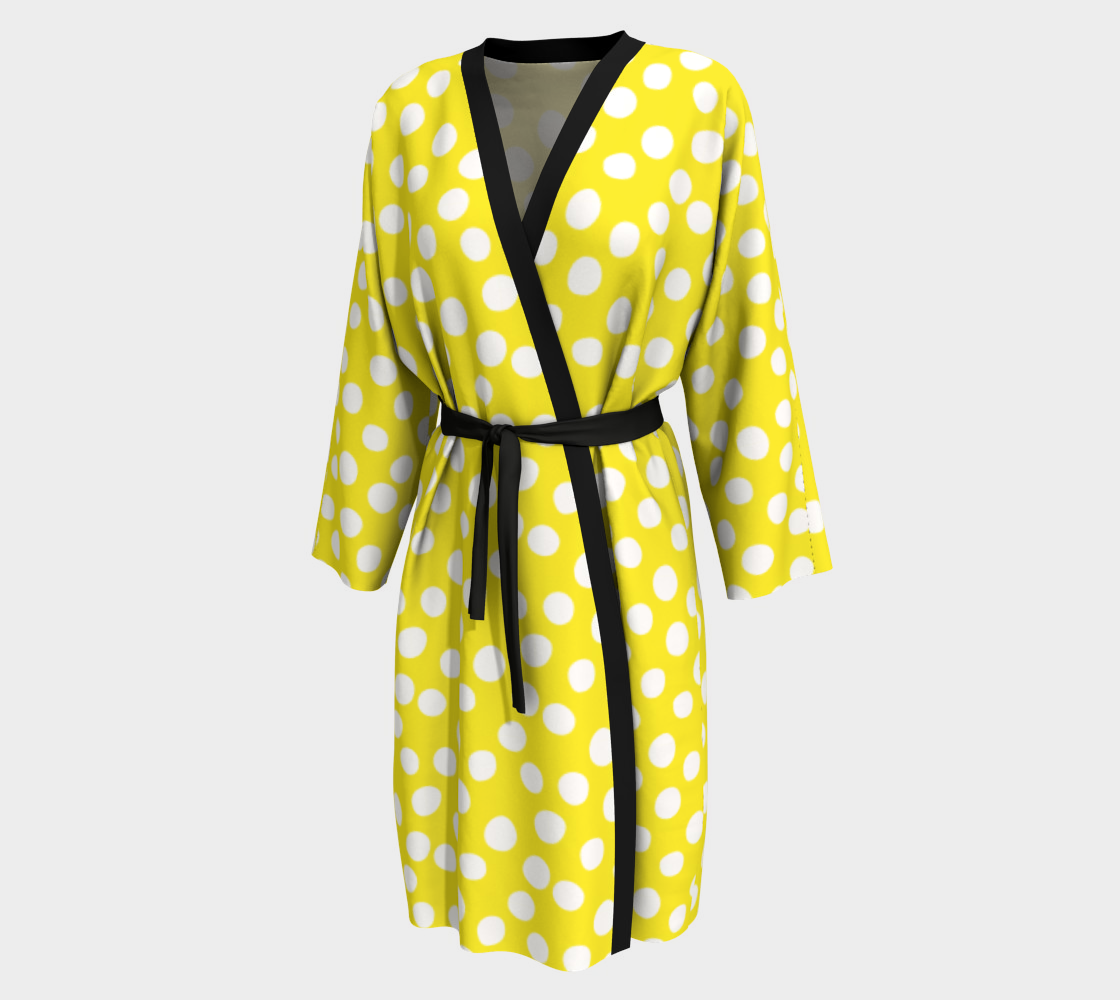 All About the Dots Peignoir - Yellow preview