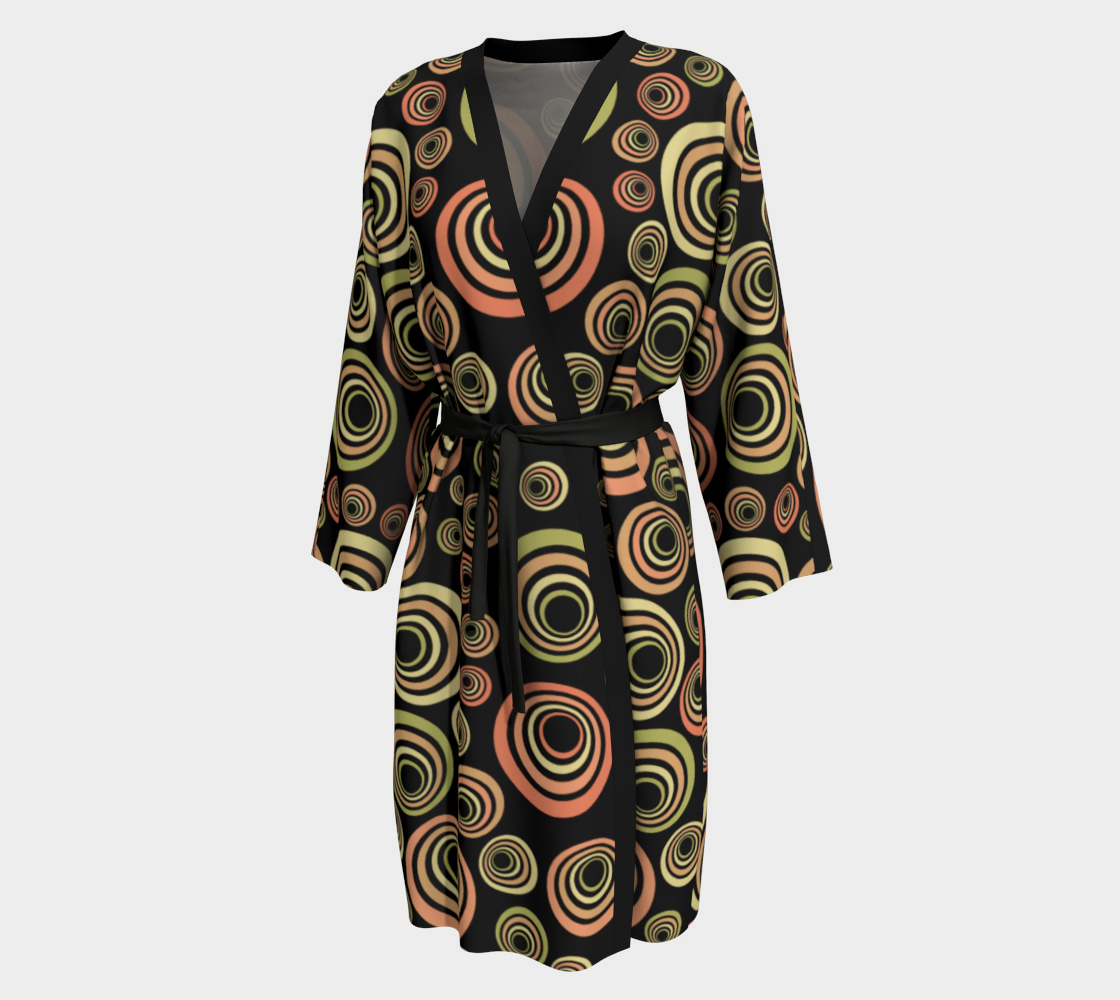 Groovy 60's Orange Yellow Green Black  preview