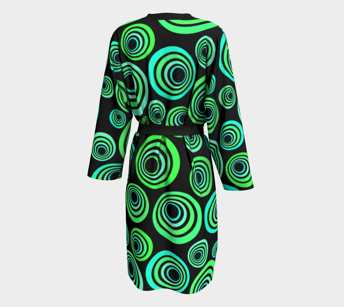 Aperçu de Groovy 60's Neon Green and Blue on Black #2