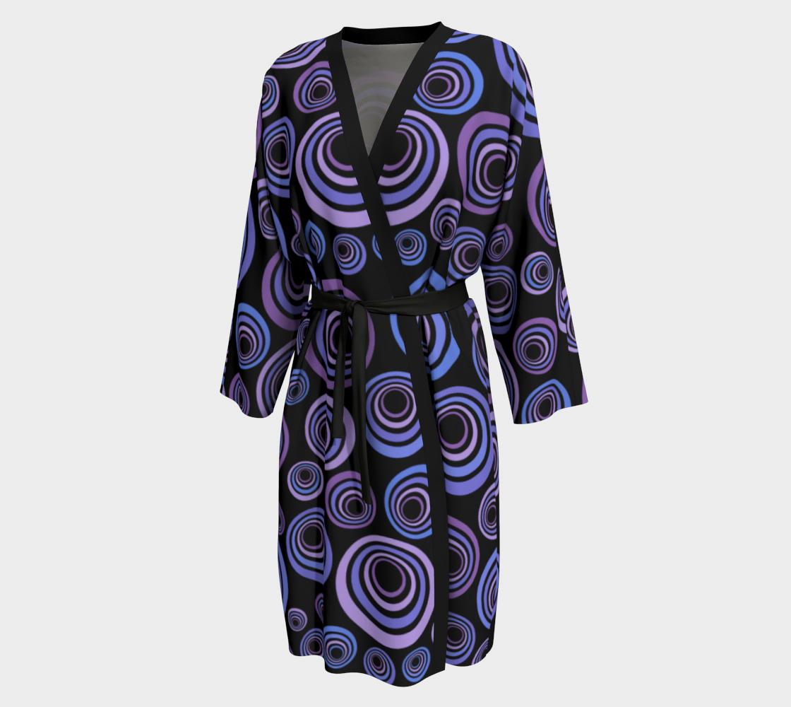 Aperçu de Groovy 60's Blue Violet Purple on Black #1