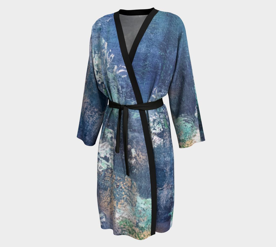 Aperçu de Kimono Robe Green Sapphire Orchids