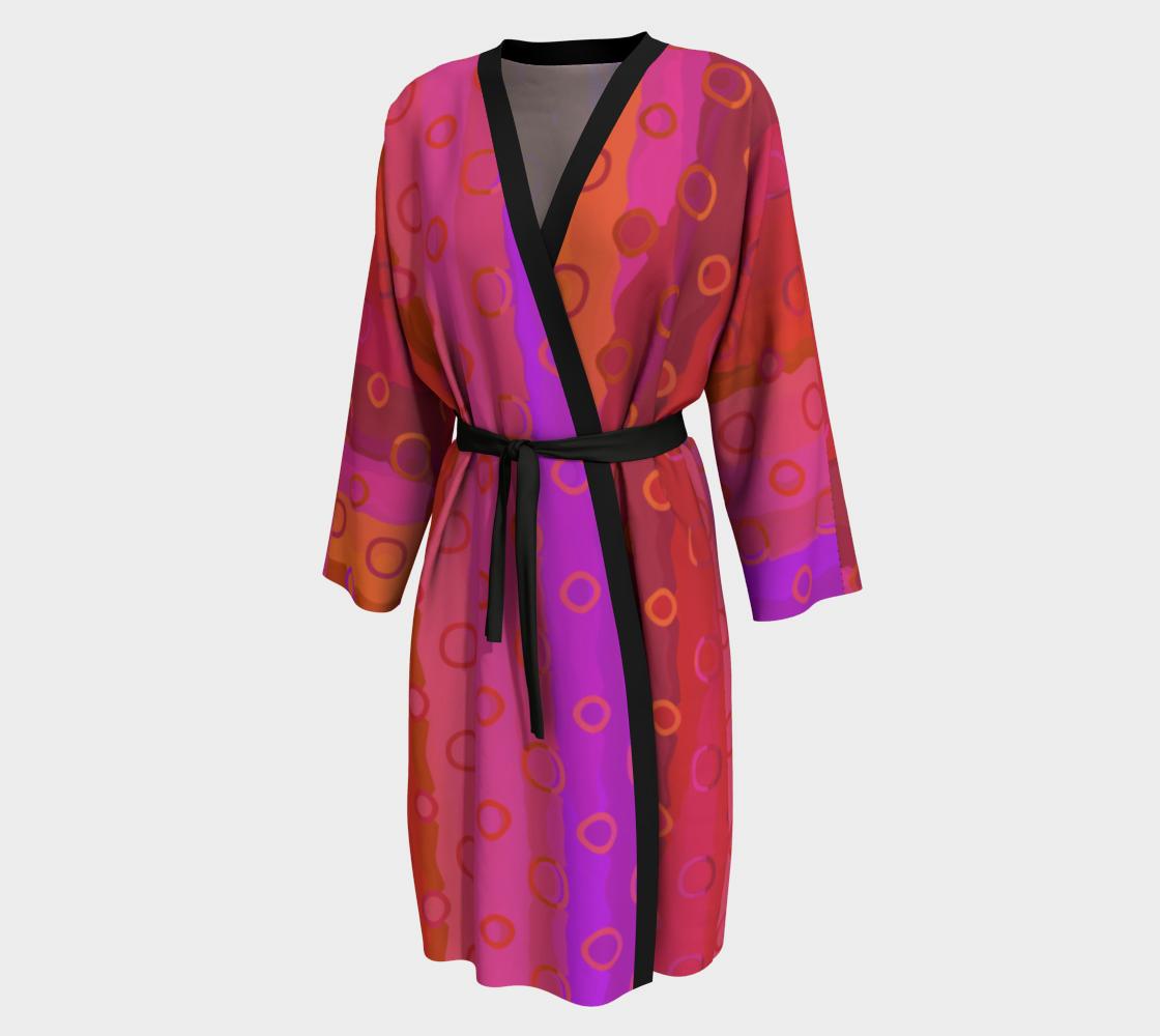 Aperçu de Pink Fuchsia Gold Peignoir Robe