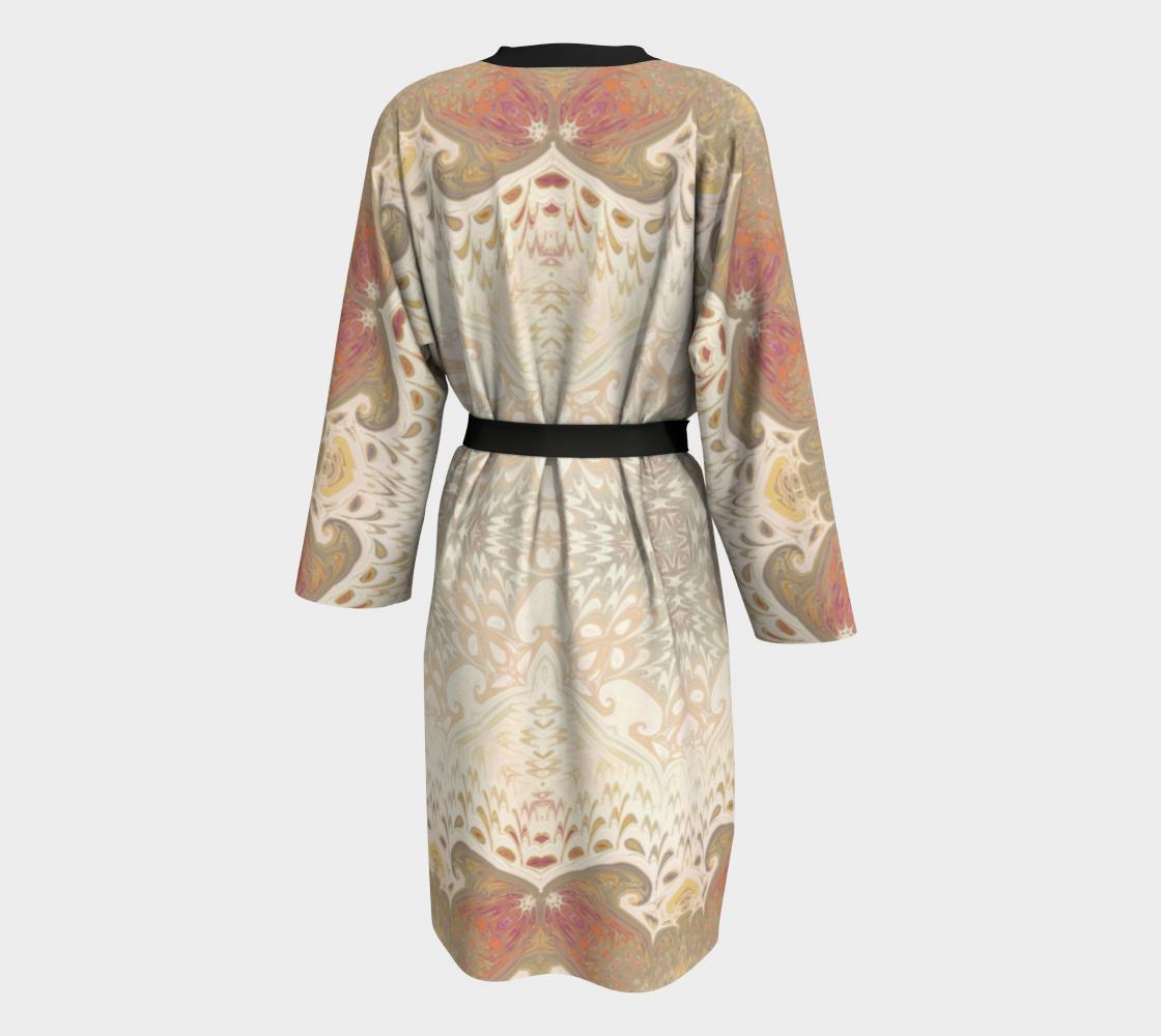 Aperçu de Rose Tan Decorative Peignoir Robe #2