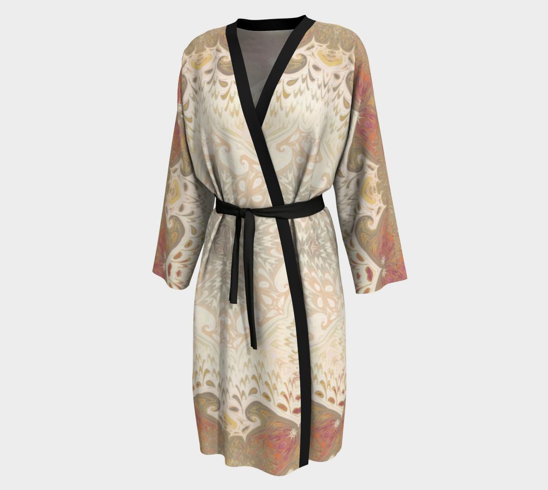 Aperçu de Rose Tan Decorative Peignoir Robe