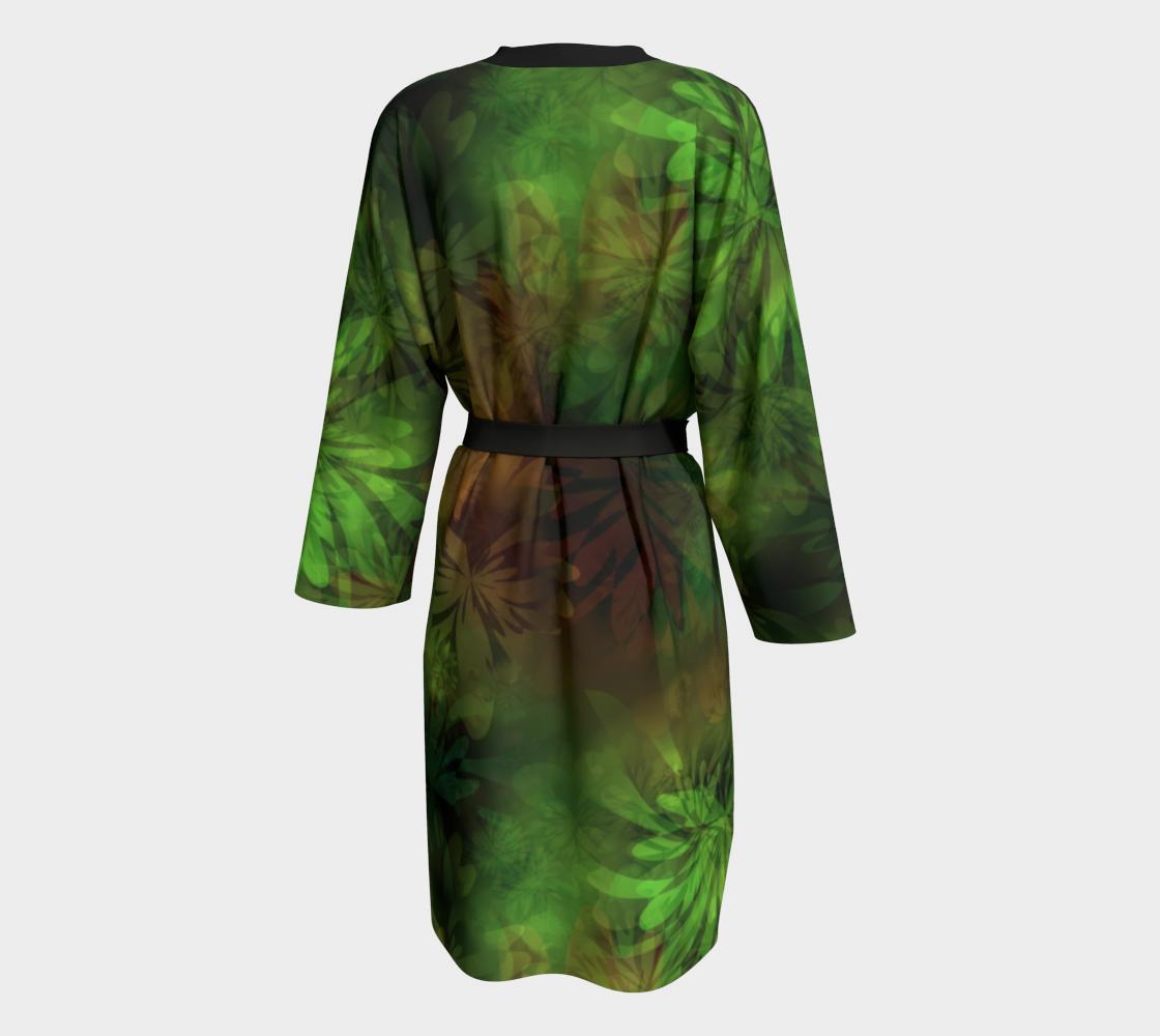 Aperçu de Jungle Green Gold Peignoir Robe #2