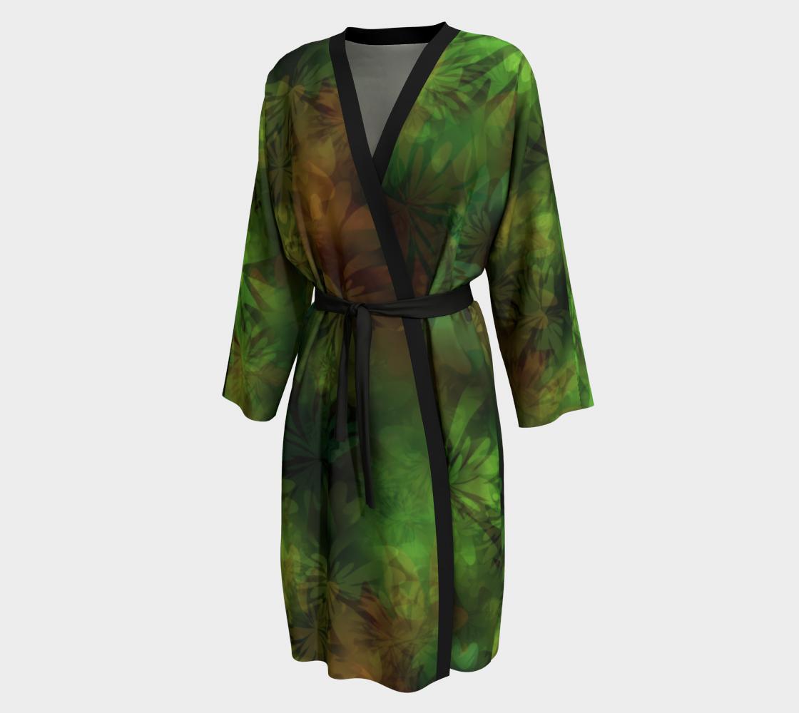 Aperçu de Jungle Green Gold Peignoir Robe #1