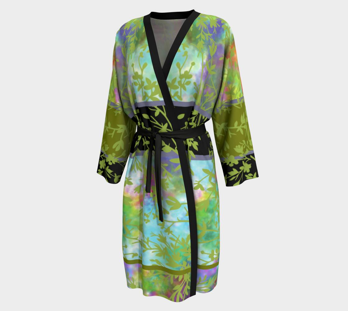 Spring Garden Long Peignoir Robe preview