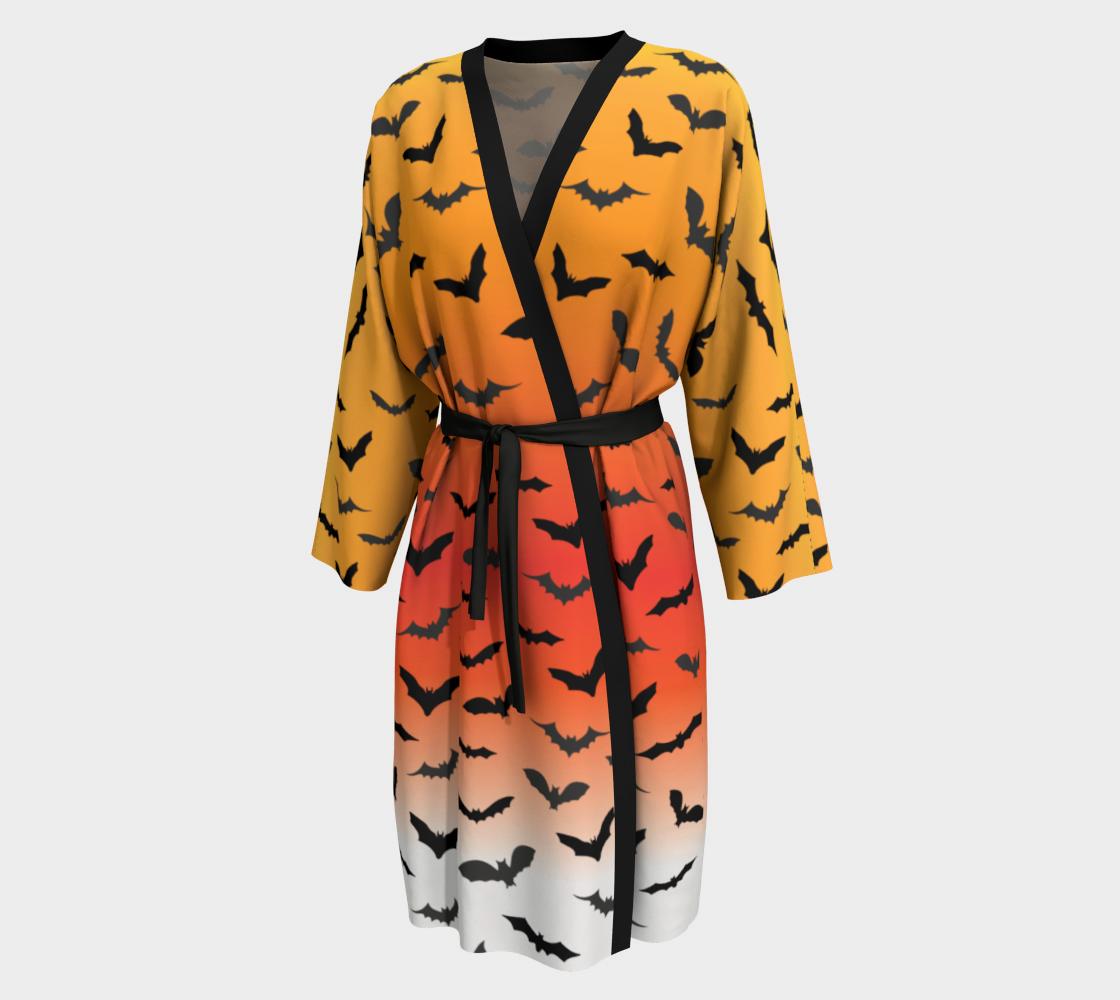 Aperçu de Halloween Bat Kimono Robe - Peignoir Robe - Robe by VCD