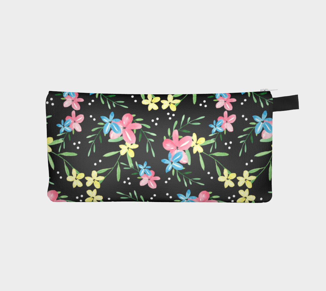 Floral Watercolor Pencil Case preview