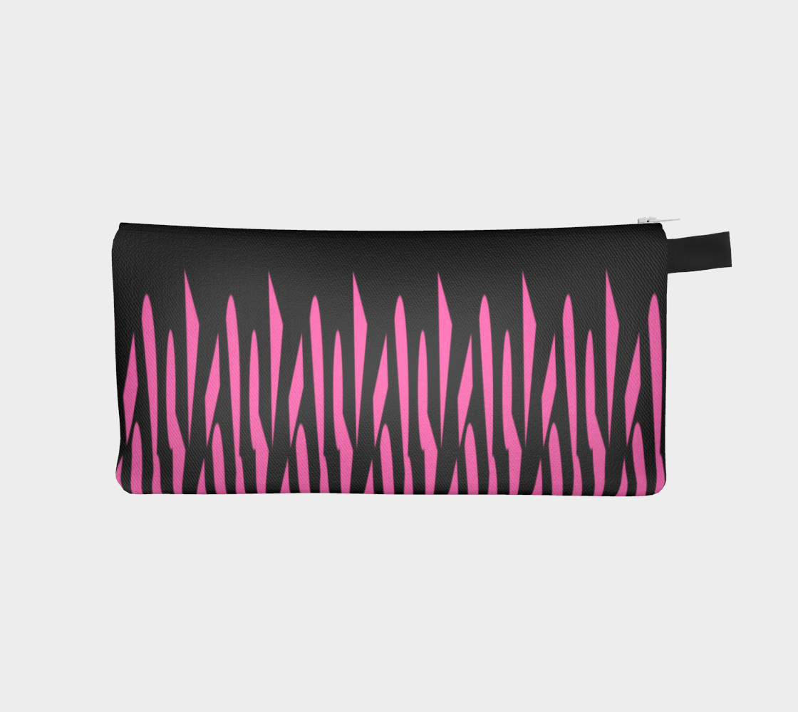 Pink and Black Ice Abstract Pencil Case preview