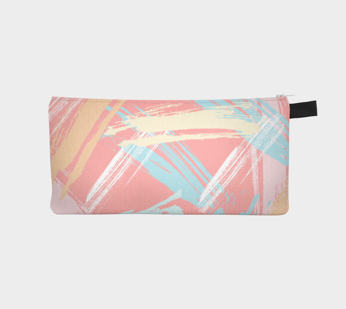 Pastel Abstract Brush Stroke Pencil Case preview