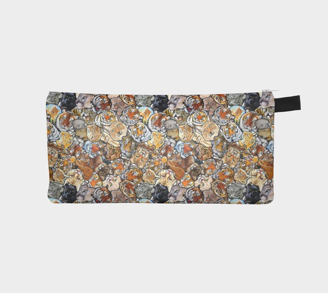 Big Cat Collage - Pencil case preview