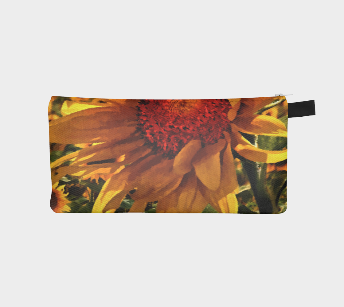Sunflower Sunrise Pencil Case by Dave Lee preview