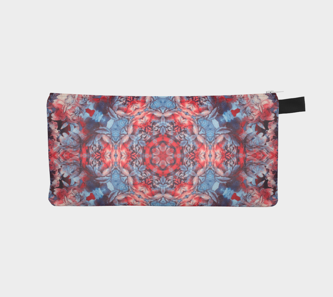 red and blue art #pencilcase preview